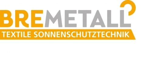 Bremetall Logo gelbe und graue Schrift mit Untertitel