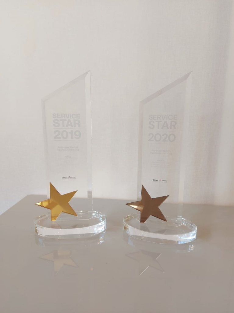 Service-Star-2020 und 2019 Trophäen